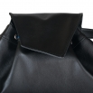 Koženkový batoh Téseus - černorůžový