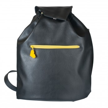 Koženkový batoh Téseus - černožlutý