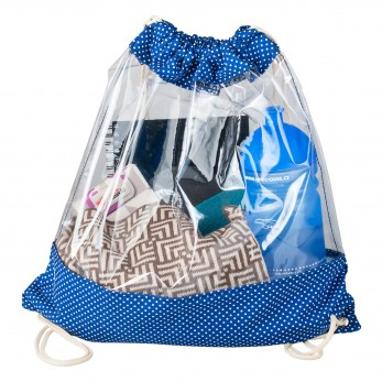 Vak na záda Plastik - Modrobílý Puntíček