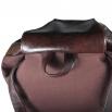 Koženkový batoh Téseus - hnědozelený