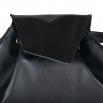 Koženkový batoh Téseus - černočervený