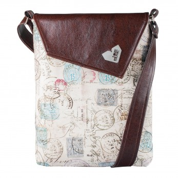 Dámská kabelka Dafné - hnědá - Razítka