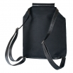 Látkový batoh Téseus s koženkou  - Červený Puntík
