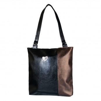 Dámská kabelka Diana - Černobronzová