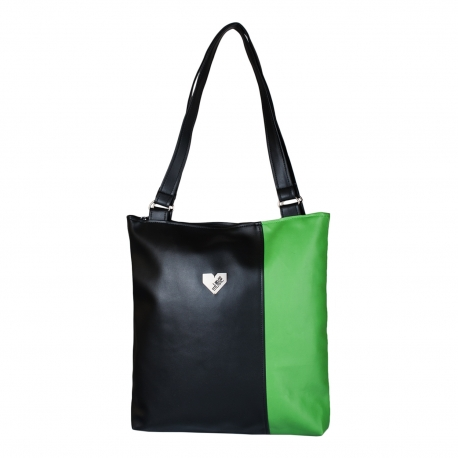 Dámská kabelka Diana  - Černozelená
