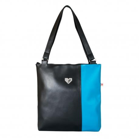 Dámská kabelka Diana  - Černomodrá