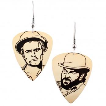 Visací náušnice trsátka Pickies - žluté - Bud Spencer a Terence Hill