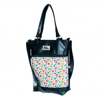 Dámská kabelka Elinor - černá - Bubliny bílé