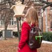 Koženkový batoh Téseus - hnědooranžový
