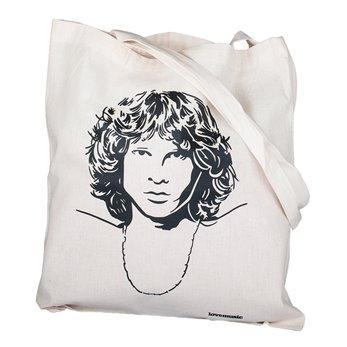 Béžová plátěná taška s potiskem - Jim Morrison
