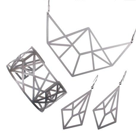 Luxusní sada ocelových šperků Complexity - Linear visací