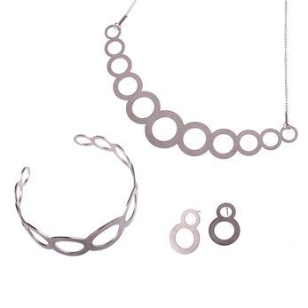 Luxusní sada ocelových šperků Complexity - Circles pecky