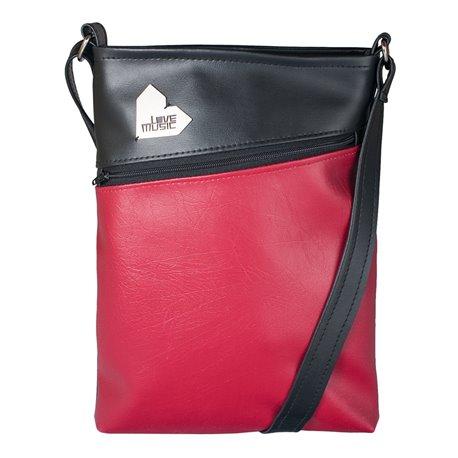 Dámská kabelka Kalypsó - černočervená