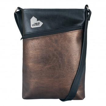 Dámská kabelka Kalypsó – Černobronzová