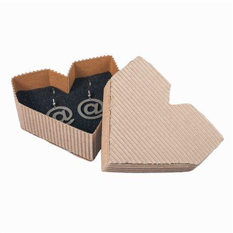 Papírová krabička na šperky - Lovemusic srdce