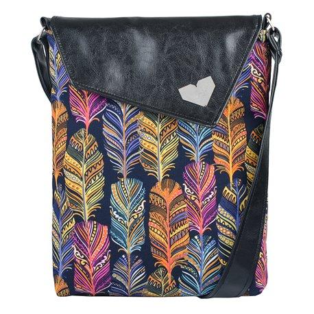 Dámská kabelka Dafné - černá - Barevná pera