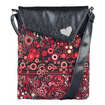 Dámská kabelka Dafné - černá - Rudé perlení