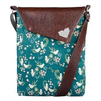 Dámská kabelka Dafné - hnědá - Zelení ptáčci
