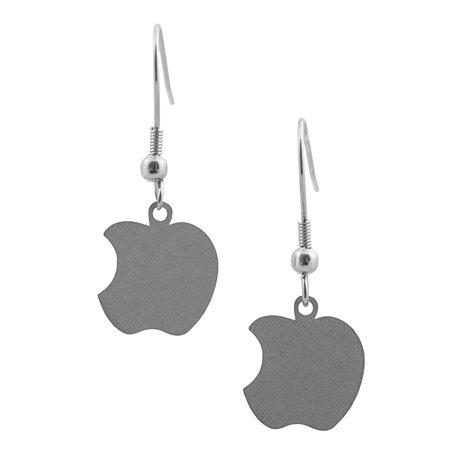 Visací ocelové náušnice - Jablko