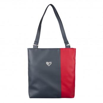 Dámská kabelka Diana  - Šedočervená