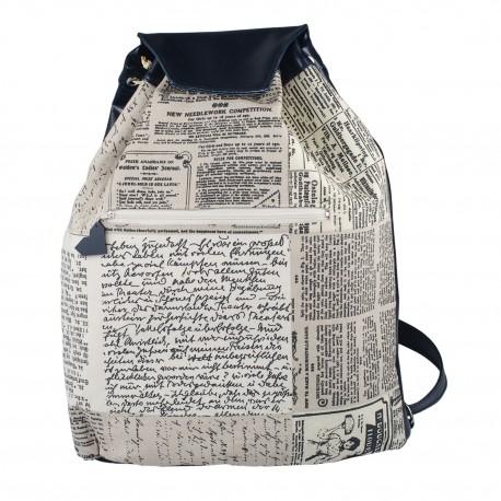 Látkový batoh Téseus s koženkou  - Písmo