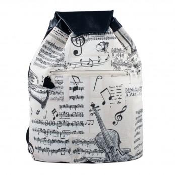 Látkový batoh Téseus s koženkou  - Symfonie