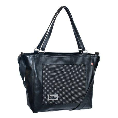 Dámská kabelka Amélie - Černobílý puntíček