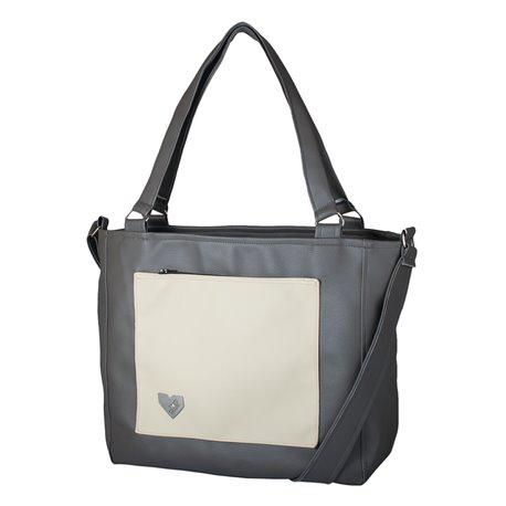 Dámská kabelka Amélie Deluxe - Šedosmetanová