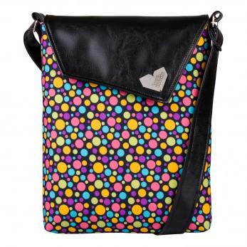 Dámská kabelka Dafné - Černá - Bubliny černé