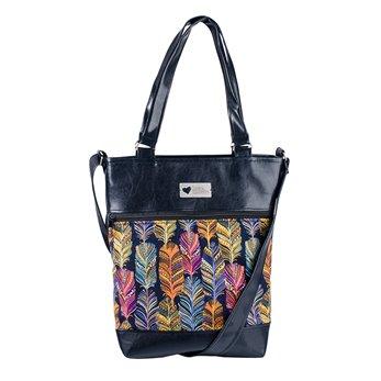 Dámská kabelka Elinor - černá – Barevná pera