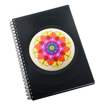 Diář z vinylových desek 2019 - Mandala barevná