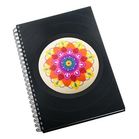 Diář z vinylových desek 2018 - Mandala barevná