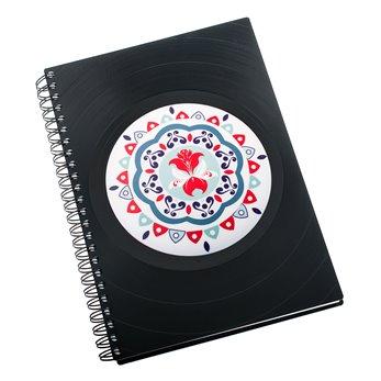 Diář z vinylových desek 2019 - Mandala modročervená