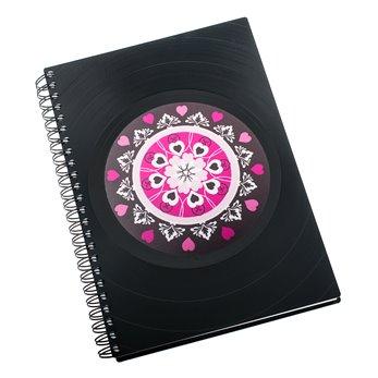 Diář z vinylových desek 2020 - Mandala růžovočerná