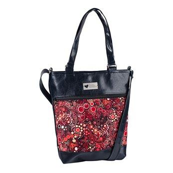 Dámská kabelka Elinor - Černá - Rudé perlení