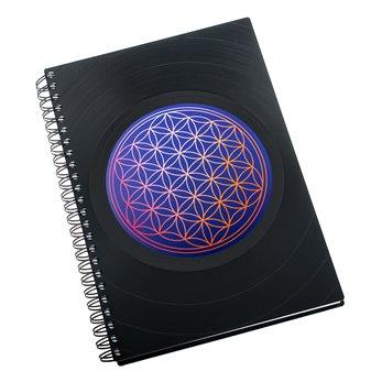 Diář z vinylových desek 2021 - Květ života modrý