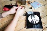 Zápisník z vinylových desek A5 - bez linek - Love Birds