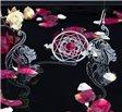 Visací ocelové náušnice Womanity - Milenka