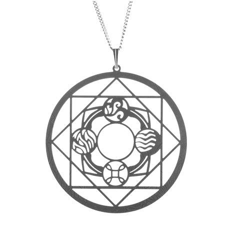 Luxusní dámský ocelový náhrdelník Womanity - Spojení živlů