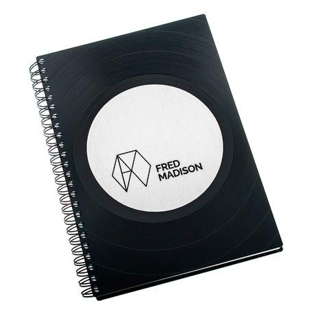 Zápisník z vinylových desek A5 - bez linek - Fred Madison