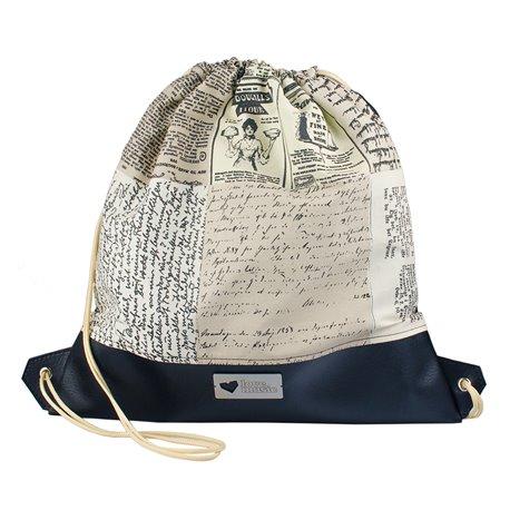 Vak na záda s koženkou - Písmo
