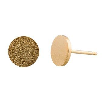 Ocelové náušnice pecky - Kruh - Gold