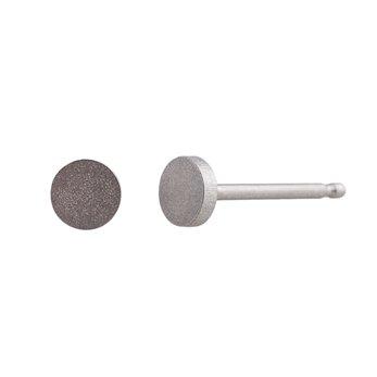 Ocelové náušnice pecky - Minikruh