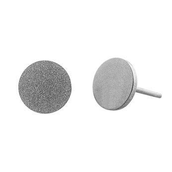 Ocelové náušnice pecky - Kruh Velký