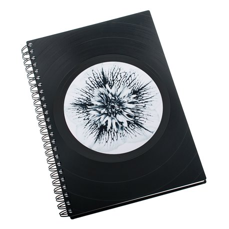 Zápisník z vinylových desek A5 - bez linek - Black and White