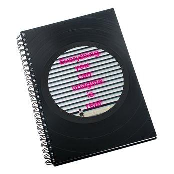 Zápisník z vinylových desek A5 - bez linek - Imagine