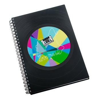 Zápisník z vinylových desek A5 - bez linek - Kazeta