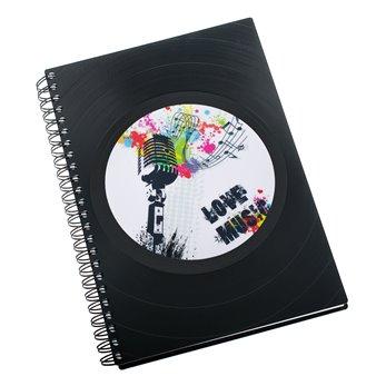 Zápisník z vinylových desek A5 - bez linek - Music