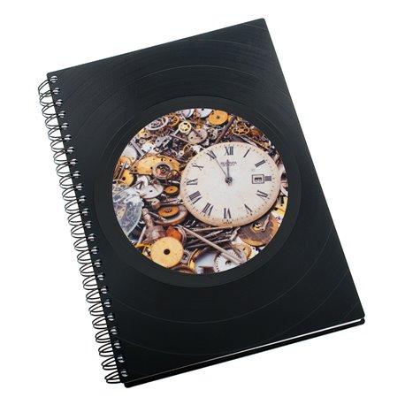 Zápisník z vinylových desek A5 - bez linek - Steampunk