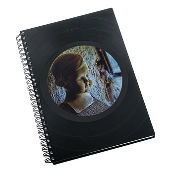 Zápisník z vinylových desek A5 - bez linek - Antique Doll